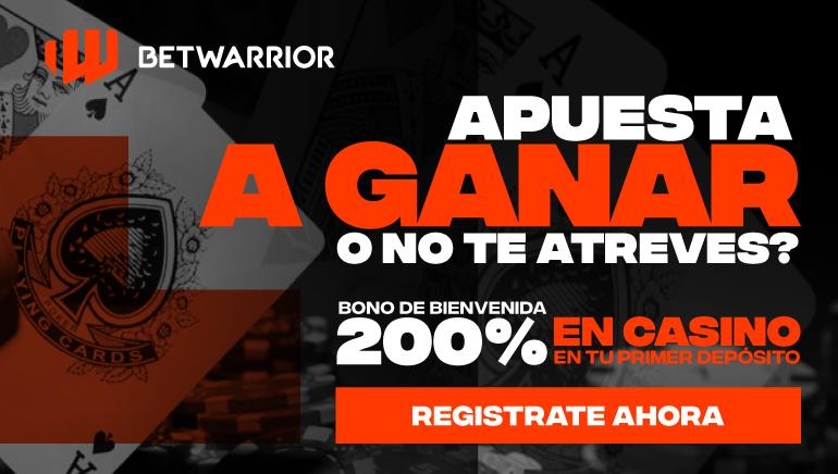 Oferta de bonificación del 200% del casino Betwarrior, ¡para juegos de casino seleccionados, solo para nuevos jugadores!